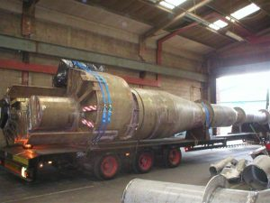 FCC Reactor cyclones loaded for shipment